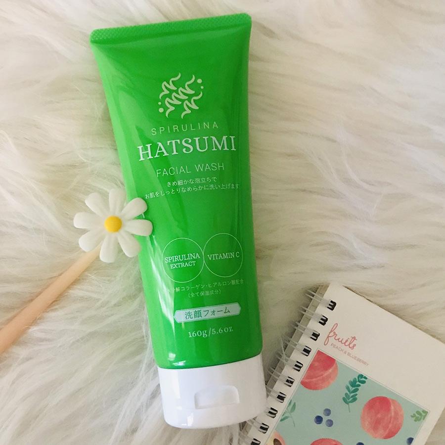 Sửa Rửa Mặt Tảo Xoắn, Vitamin C Trắng Da, Ngừa Mụn Và Dưỡng Ẩm Hatsumi Moisture Foam Cleanser
