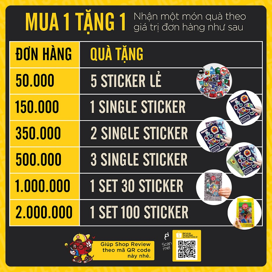 Swag - Set 30 sticker hình dán
