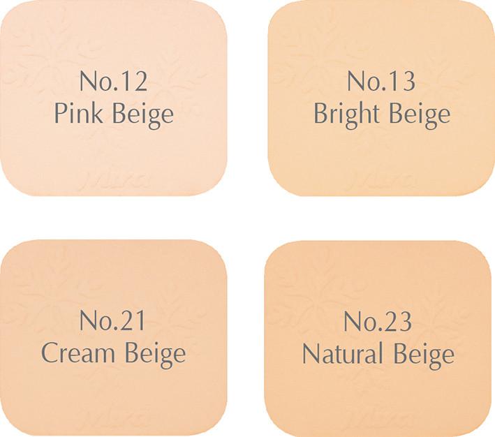Phấn nén trang điểm siêu mịn Mira Two Way Cake Hàn Quốc 12g No.21 Cream Beige tặng kèm móc khoá 1