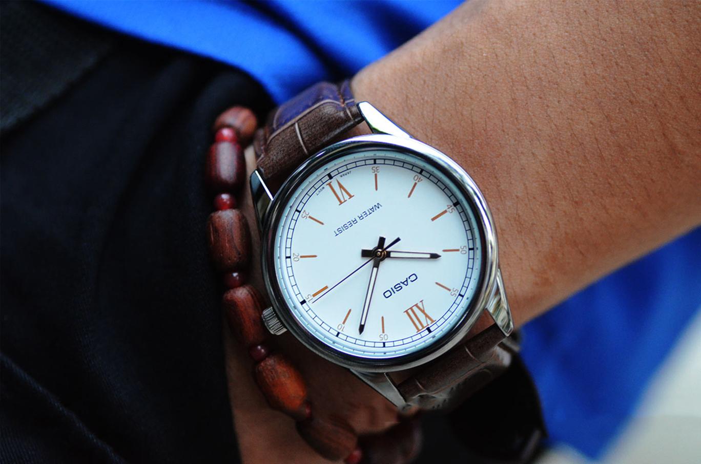 Đồng hồ nam dây da Casio MTP-V005L-7B3UDF