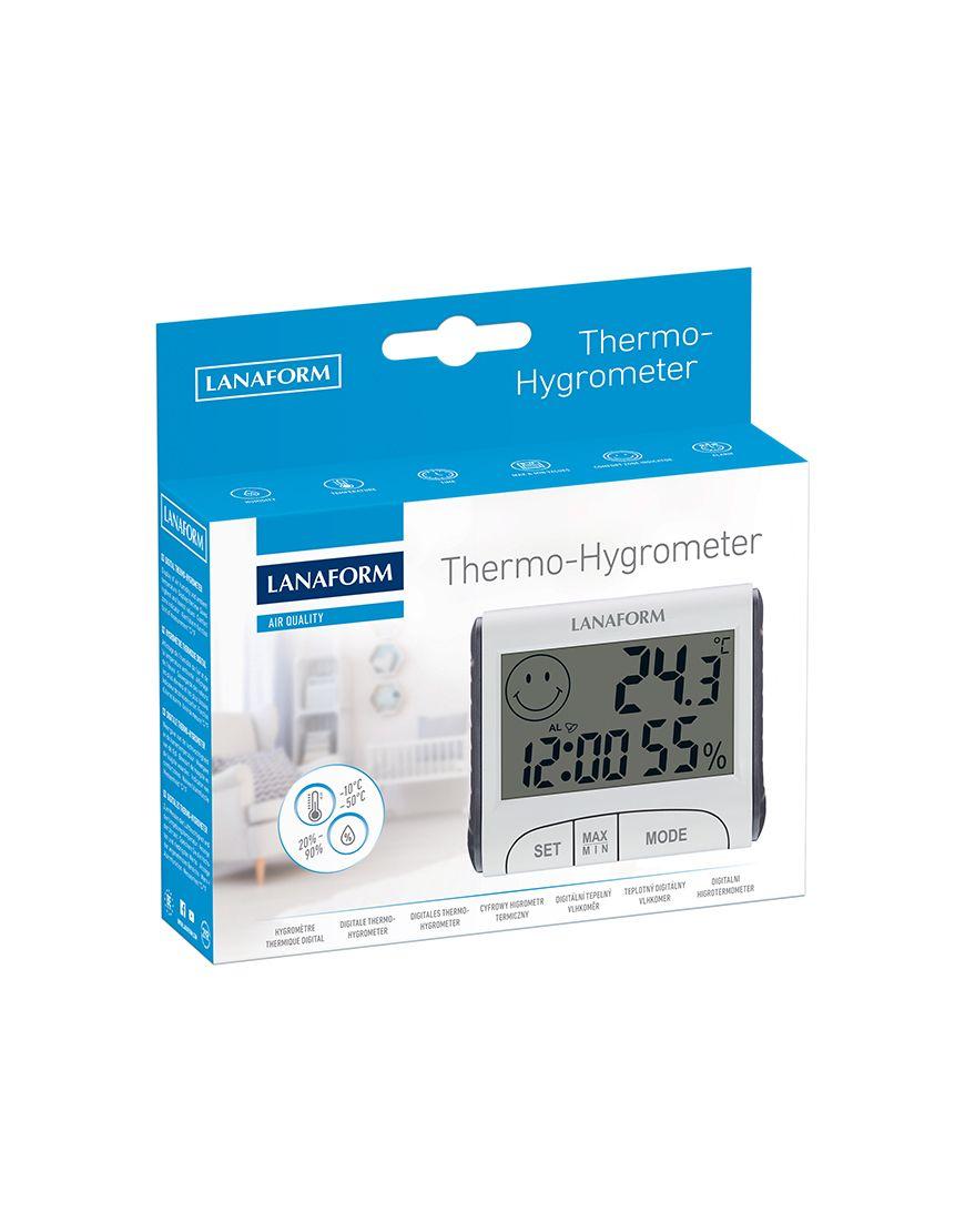 Nhiệt ẩm kế điện tử có giờ Lanaform LA120701