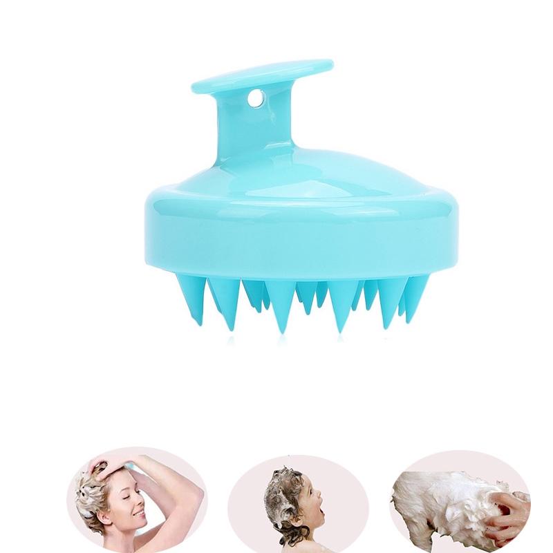 Lược Gội Đầu Massage Silicon - Giảm rụng tóc - Kích thích mọc tóc (Màu ngẫu nhiên)