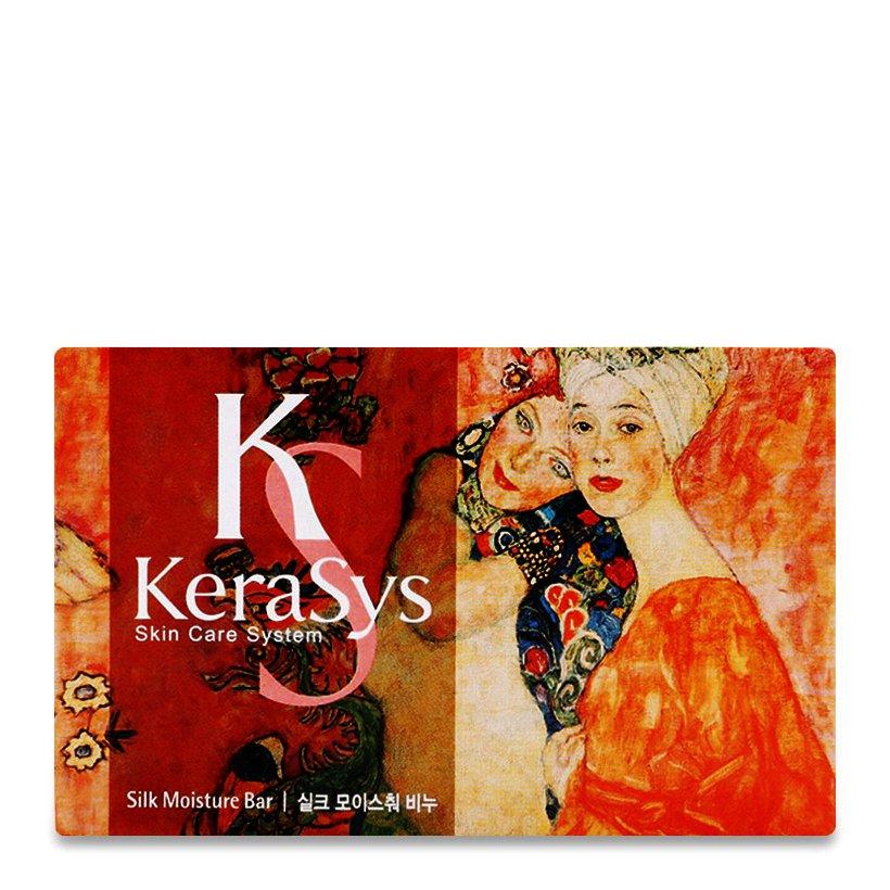 Xà bông tắm dưỡng da Kerasys Silk Moisture Hàn Quốc 100g - Danh cho da khô [Thêm móc khoá]