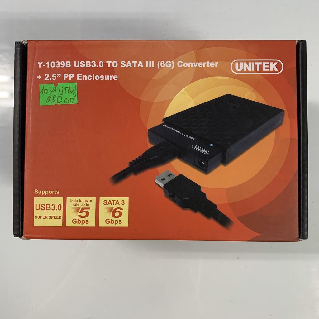 """Hộp đựng ổ cứng HDD usb 3.0 sata 2.5"""" Unitek Y1039"""