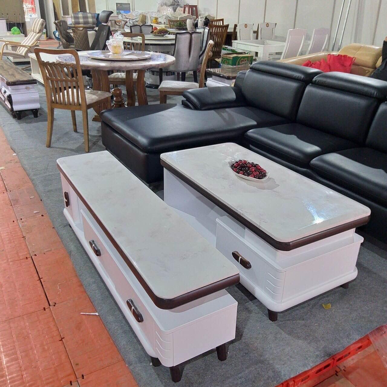 Bàn sofa mặt đá nhập khẩu TS002B 1M2