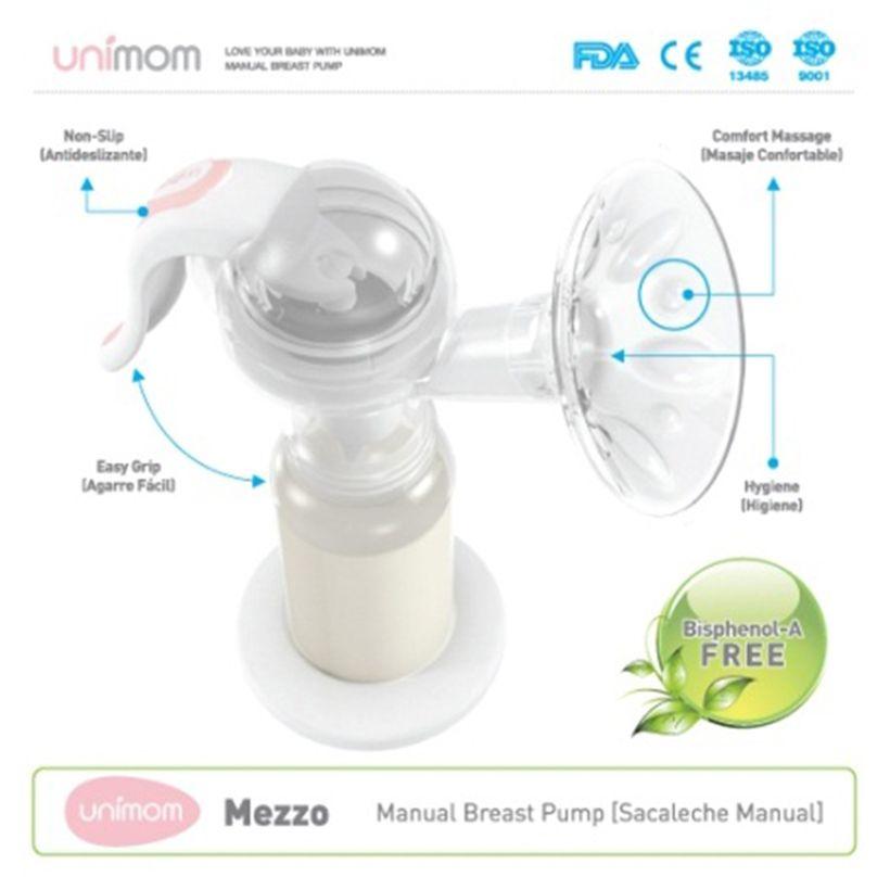 Máy hút sữa bằng tay Mezzo Unimom có Massage Silicone