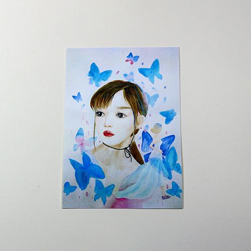 Giấy vẽ màu nước A6 lỡ 40 tờ vẽ các hình dễ thương