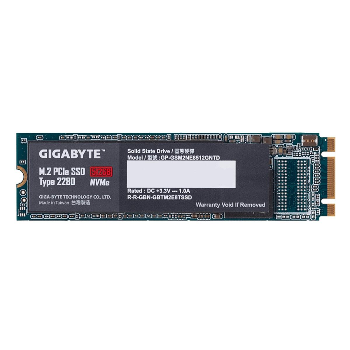 Ổ Cứng SSD Gigabyte M.2 PCie x2 512GB Type 2280   - Hàng Chính Hãng