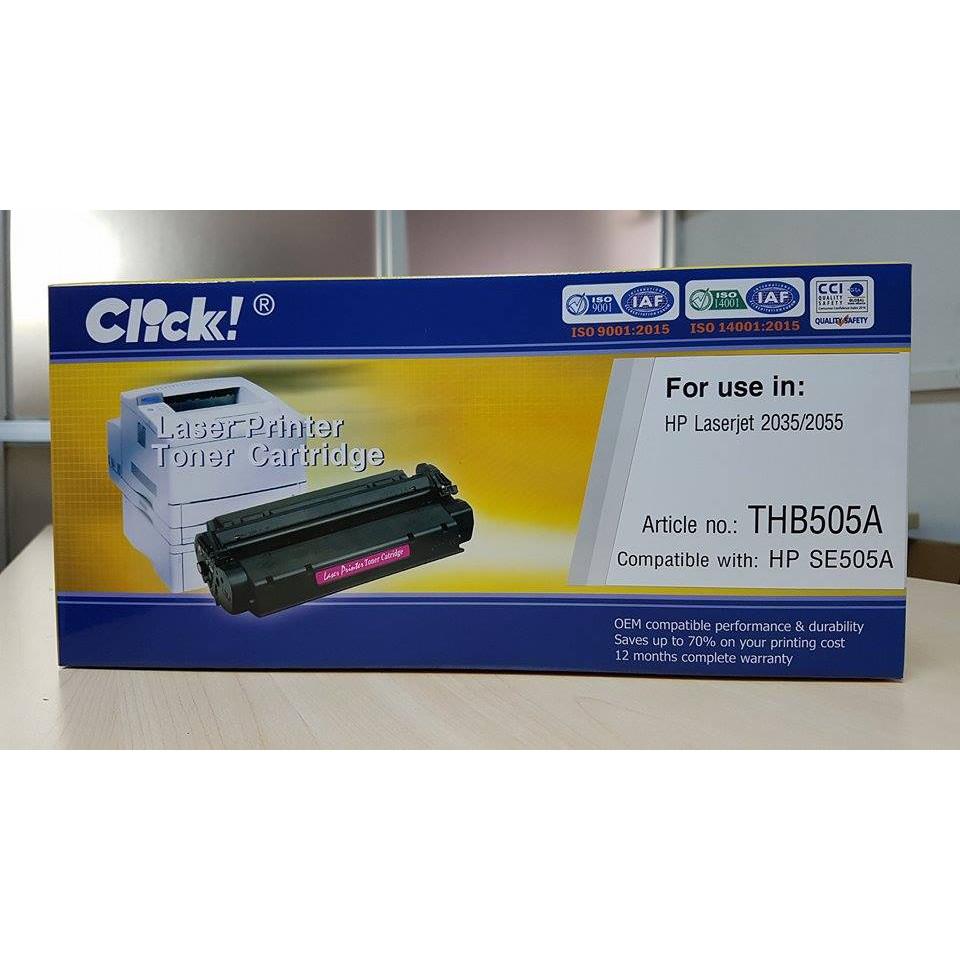 Hộp mực in vi tính Click dành cho HP CE505A - Hàng Chính Hãng