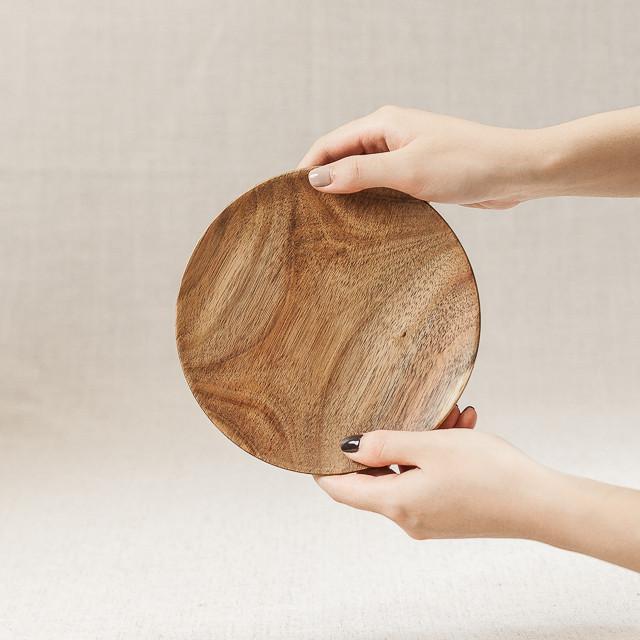 Đĩa tròn gỗ keo