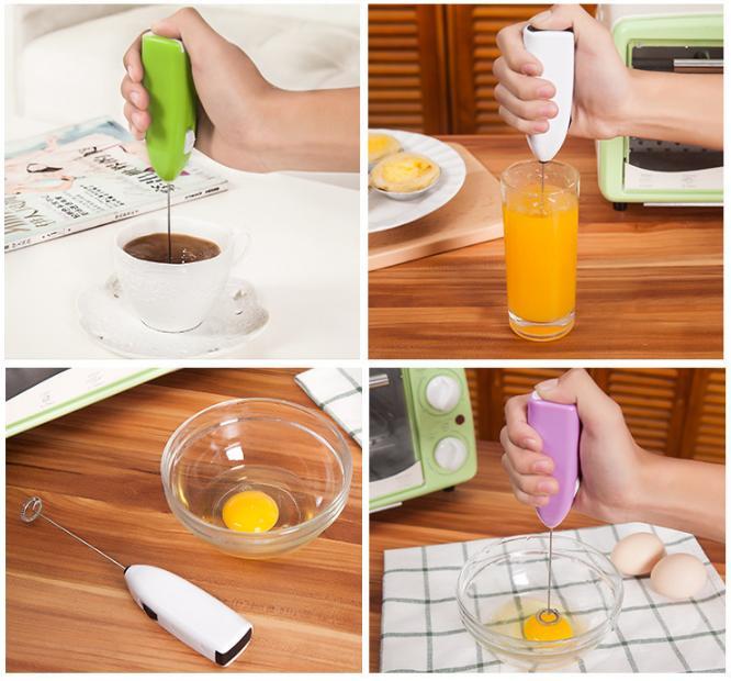 Máy cầm tay Mini Đánh Trứng, tạo bọt cà phê chạy bằng pin ( Màu ngẫu nhiên)