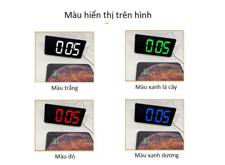Đồng hồ màn hình hiển thị led để bàn ( Tặng kèm móc khóa tô vít đa năng  )