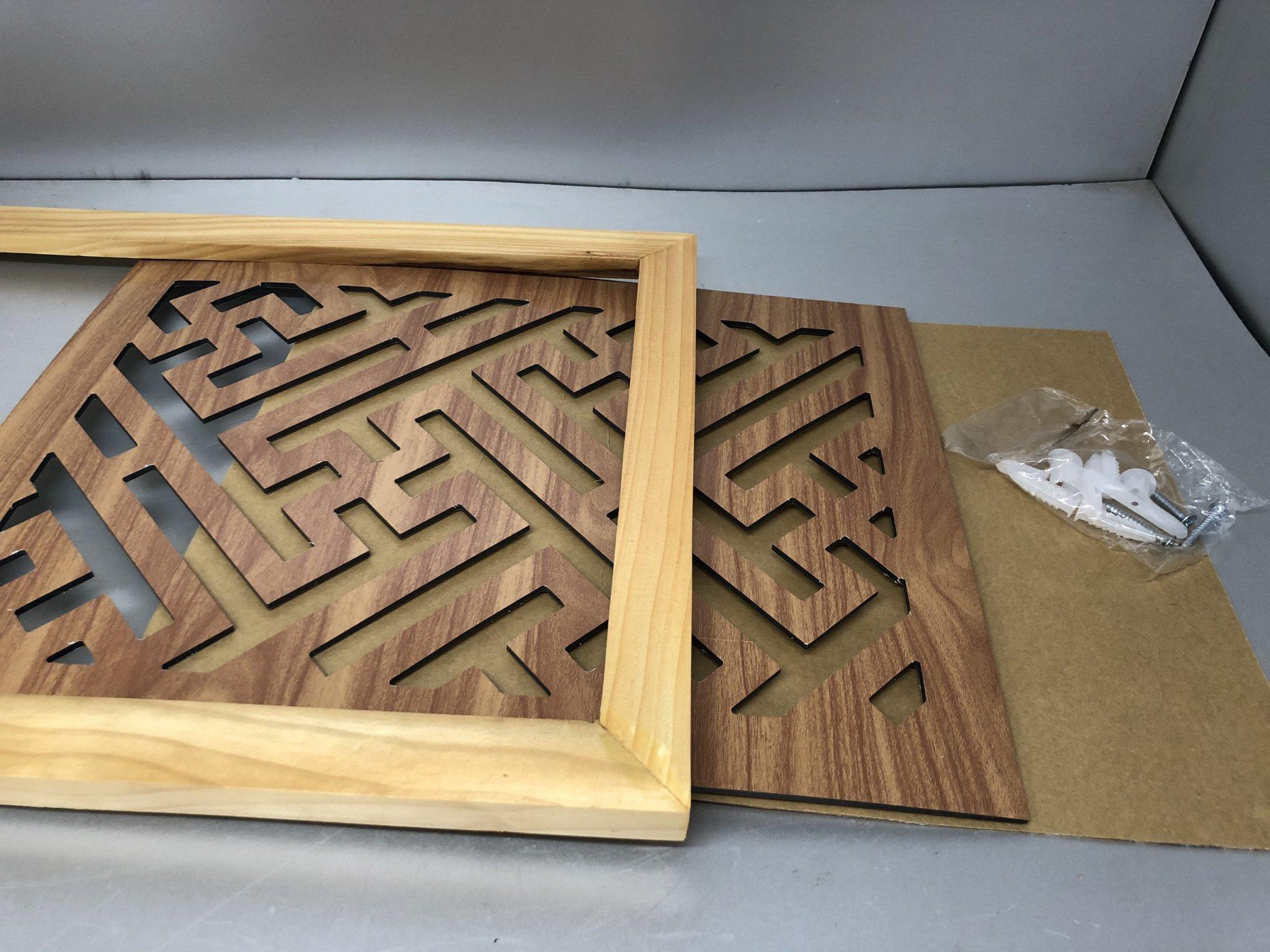Tấm chống ám khói 3 lớp khung gỗ sồi vàng - TL02
