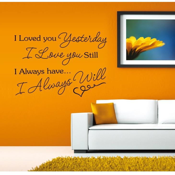 Decal dán tường I love you ( 80 x 115 cm)