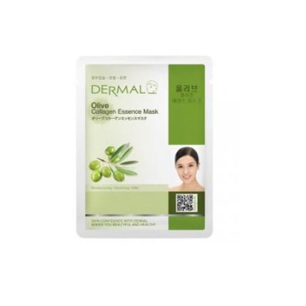 10 Mặt nạ Dermal dưỡng chất tinh dầu Olive + Collagen Dermal