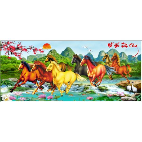 Tranh Đính Đá Mã Đáo Thành Công (Chưa Đính) - YN5378