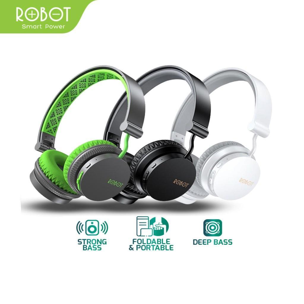 Tai Nghe Chụp Tai Bluetooth ROBOT Spirit Chất Âm DSP Hỗ Trợ Kết Nối Cổng AUX - Hàng Chính Hãng