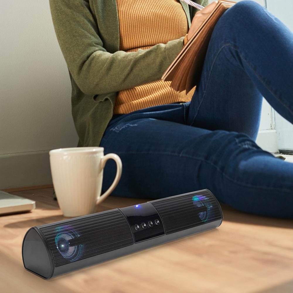 Loa bluetooth A2, loa không dây để bàn âm thanh chân thực, thiết kế loa kép siêu bass, Led chuyển màu, kết nối được với điện thoại, tivi, laptop- Hàng nhập khẩu