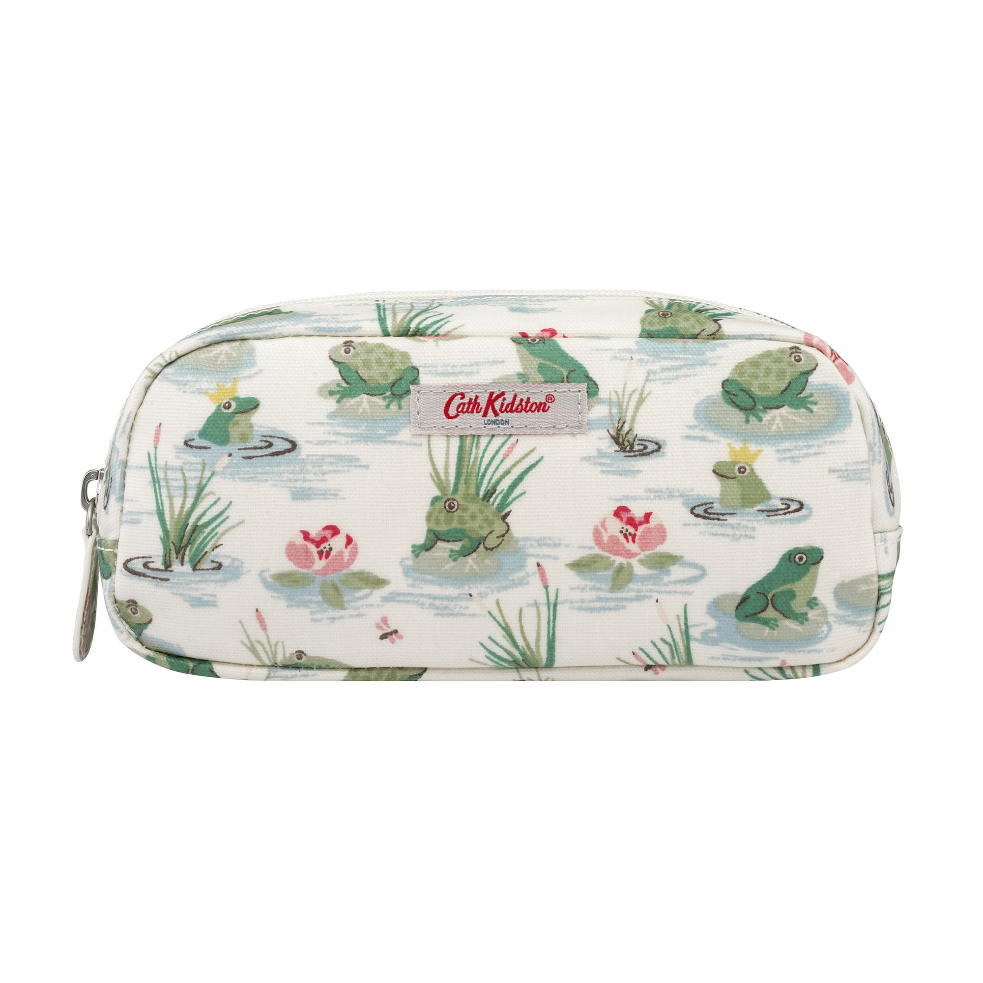 Hộp bút Cath Kidston họa tiết Bathing Frogs (Pencil Case with Pocket Bathing Frogs)