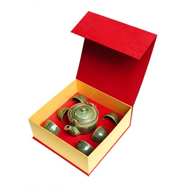 Bộ trà  quà tặng Ấm trà  dáng mới Đông Gia -xanh Crystal 14