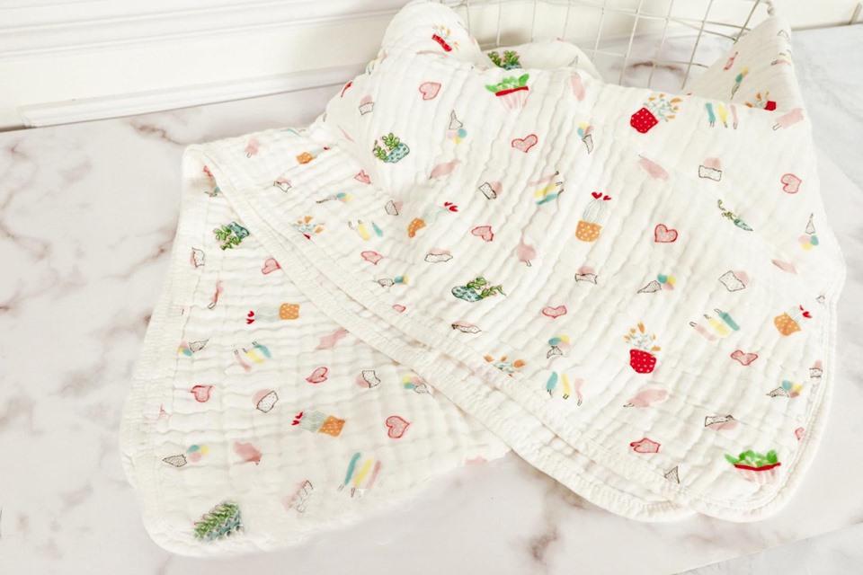 Chăn xô nhăn 6 lớp xuất Nhật họa tiết cho bé