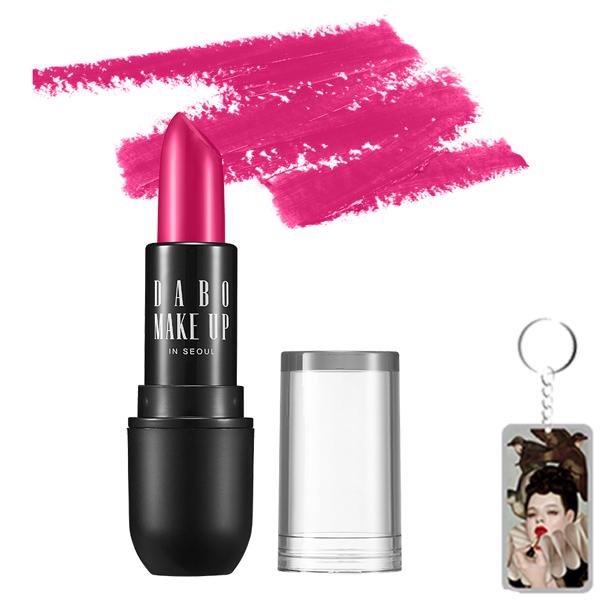Son thỏi siêu lì chuẩn màu Dabo Make Up Real RouGe Matte Hàn Quốc No.101 (Magenta Pink) Tặng móc khoá