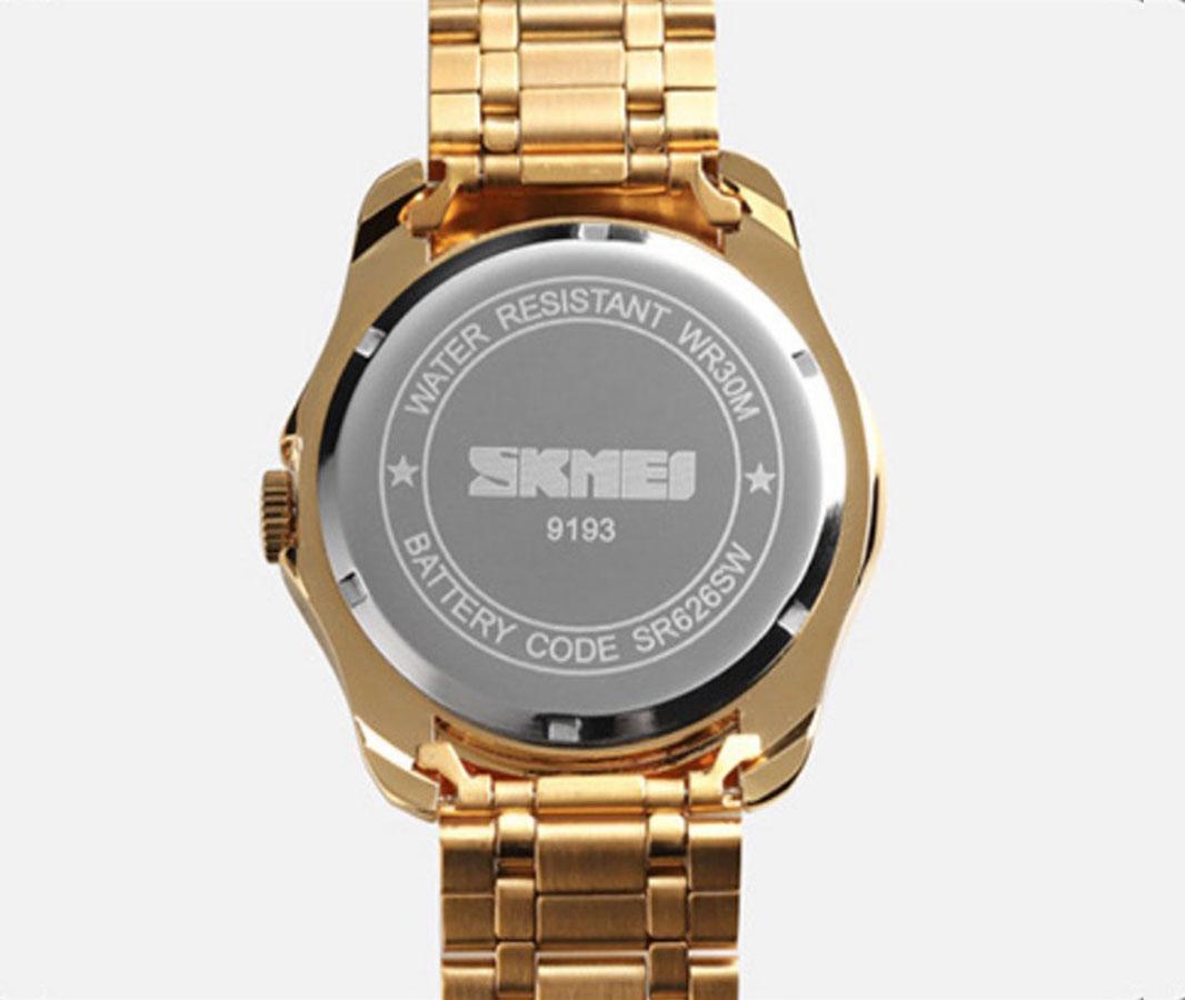 Đồng hồ nam SKMEI Mặt Rồng Phong thuỷ | Mạ vàng sang trọng | Hộp gỗ cao cấp
