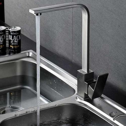 Combo chậu rửa bát 2 hố cân 78x43x22, vòi rửa bát vuông, bộ xả chậu chống hôi, bình xà phòng, rổ đa năng