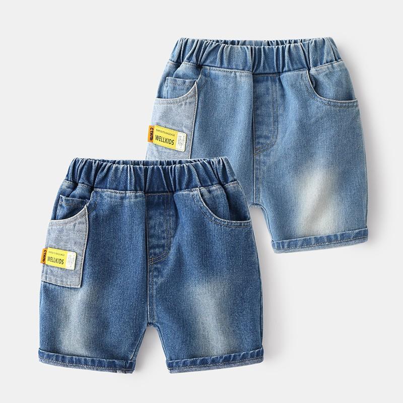 Quần Jeans Cho Bé WELLKIDS Quần Short Cho Bé Chất Bò Mềm Xuất Âu Mỹ 031