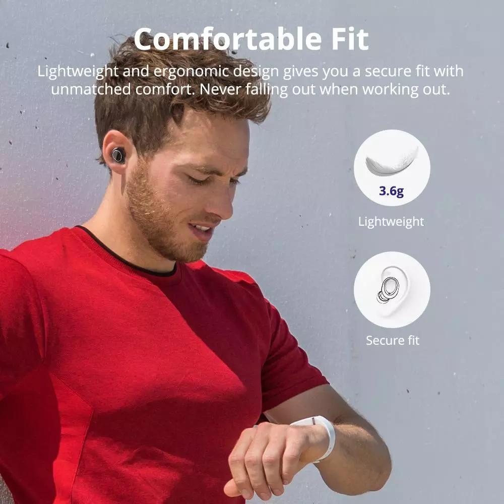 Tai nghe Bluetooth Tronsmart Onyx Neo APTX Tai nghe không dây TWS với chip Qualcomm, Điều khiển âm lượng, IPX5  ,Thời gian chơi 24 giờ -Hàng nhập khẩu