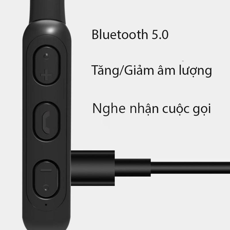 Tai Nghe Bluetooth MH07 Nhét Tai Quàng Cổ Nghe Nhạc Có Mic Đàm Thoại - Hàng Chính Hãng