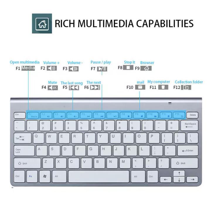 Bộ bàn phím chuột không dây nhỏ gọn PC14