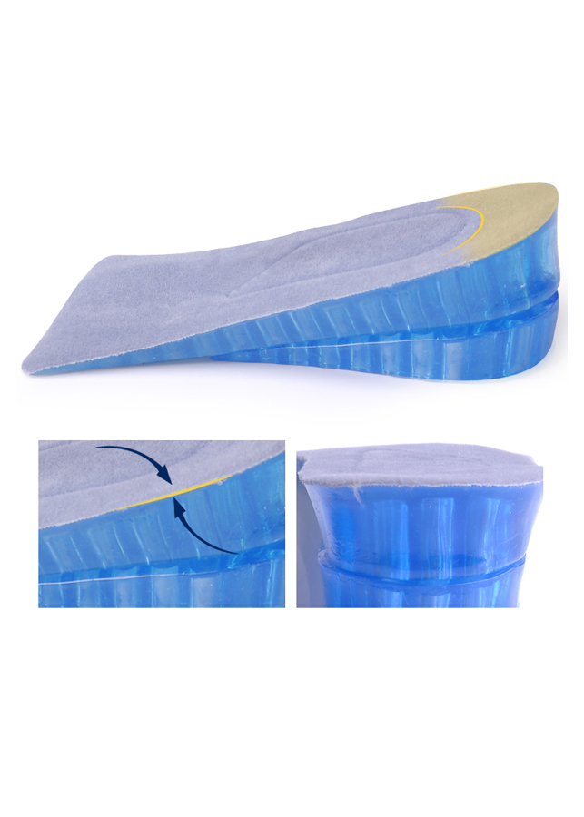 Lót giày tăng chiều cao gel nửa bàn 2 lớp - Xanh Dương (cao 4 cm)