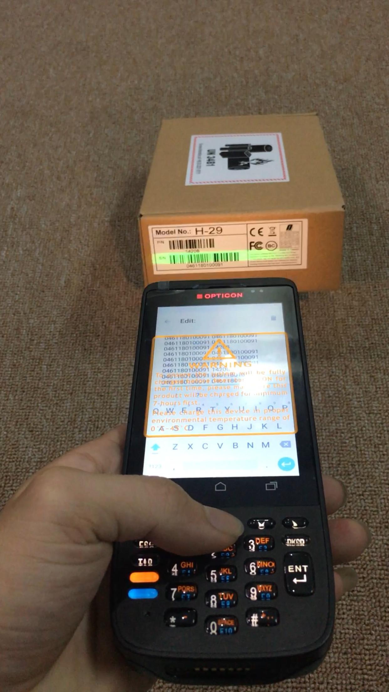 Máy quét mã vạch, kiểm kho PDA Opticon H-29 Wifi (Hàng chính hãng)