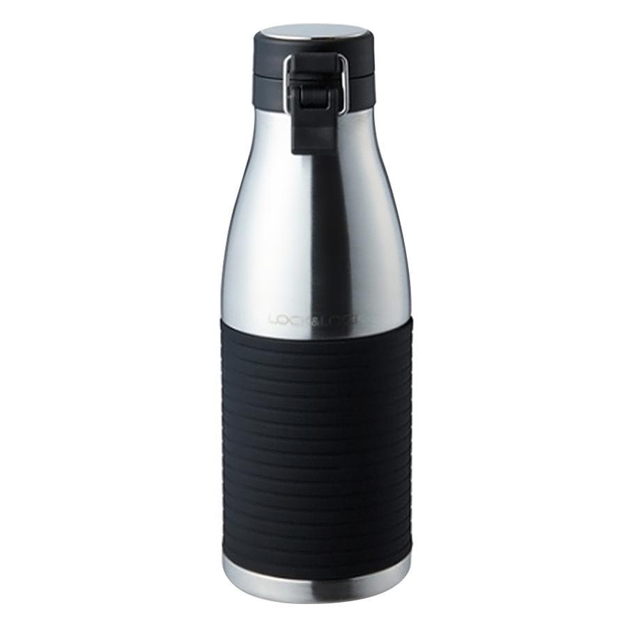 Bình Giữ Nhiệt Bằng Thép Không Gỉ Lock&Lock Cylinder Bottle LHC4145SLV (430ml) - Bạc