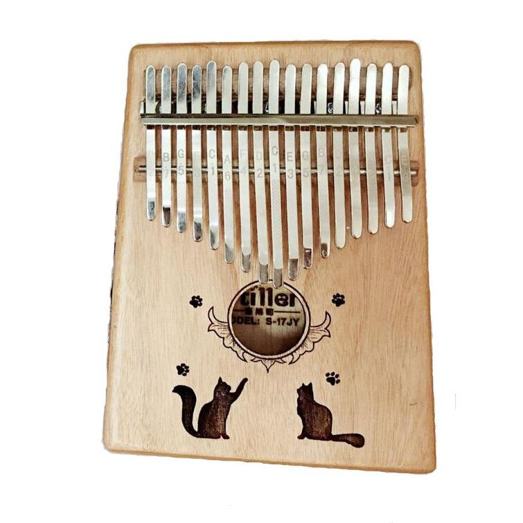 Đàn Kalimba Woim 17 phím - Gỗ Mèo đôi Tặng kèm khóa học miễn phí