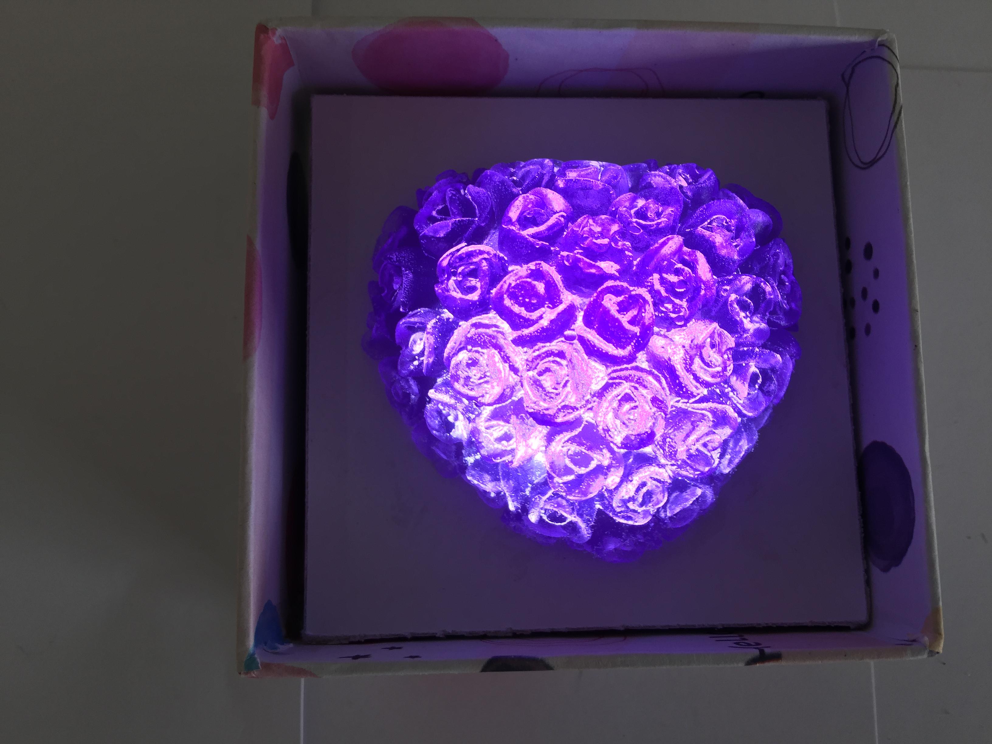 Xà bông trong suốt trái tim hoa hồng new màu tím