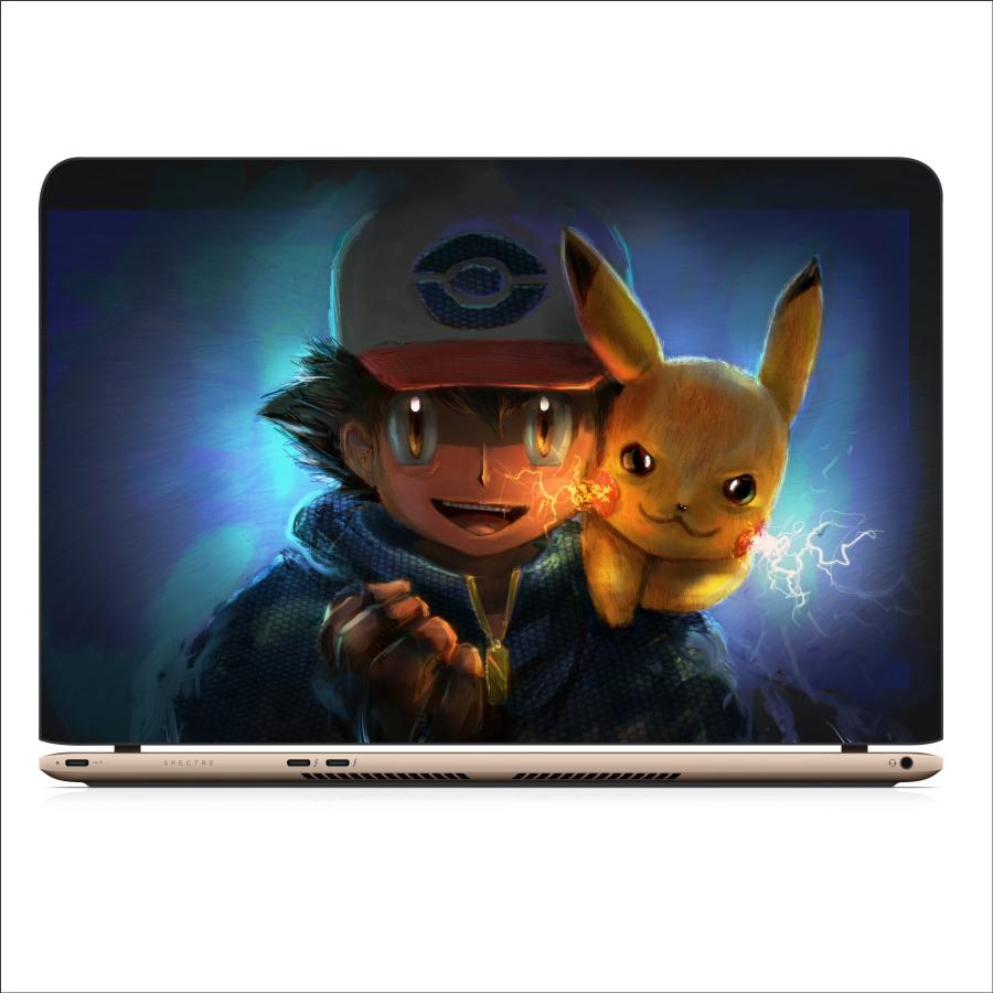 Miếng Dán Skin Decal Dành Cho Laptop - Pikachu 1 - Mã: 111118