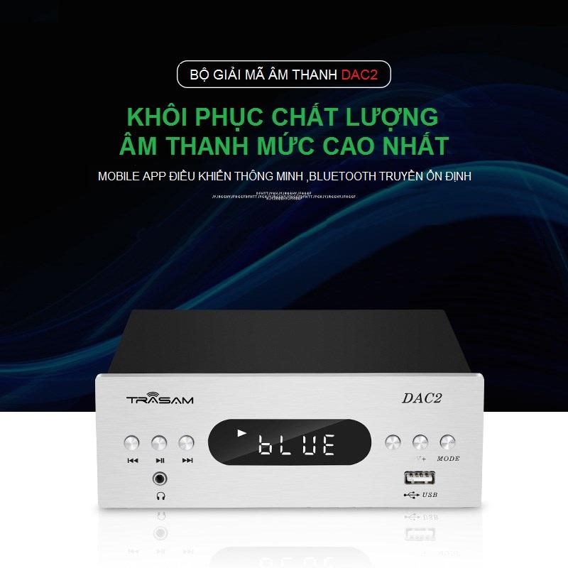 Bộ DAC Giải Mã TRASAM DAC 2 Bluetooth 24BIT 192KHZ AZONE