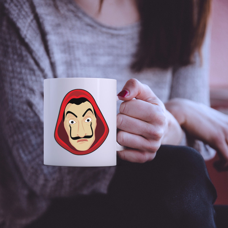 The Face of Dali Money Heist - Single Sticker hình dán lẻ