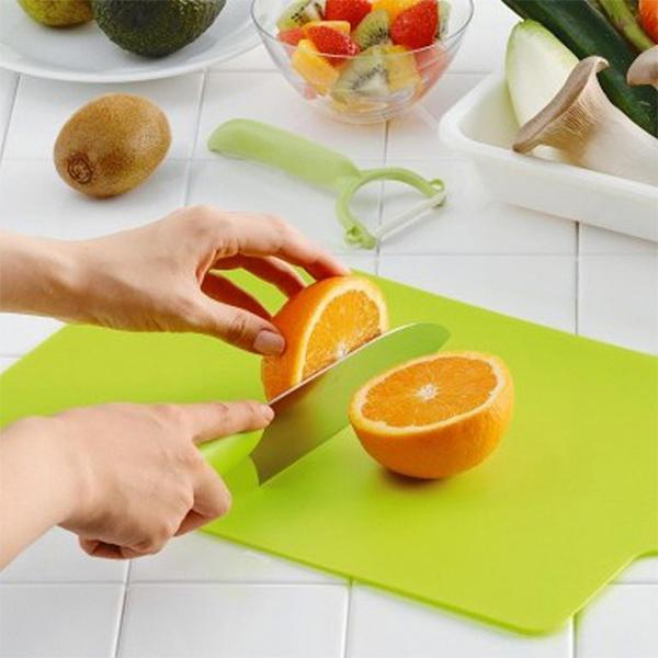 Bộ 2 thớt dẻo cắt rau, củ, quả chất liệu an toàn tuyệt đối - Hàng Nội Địa Nhật