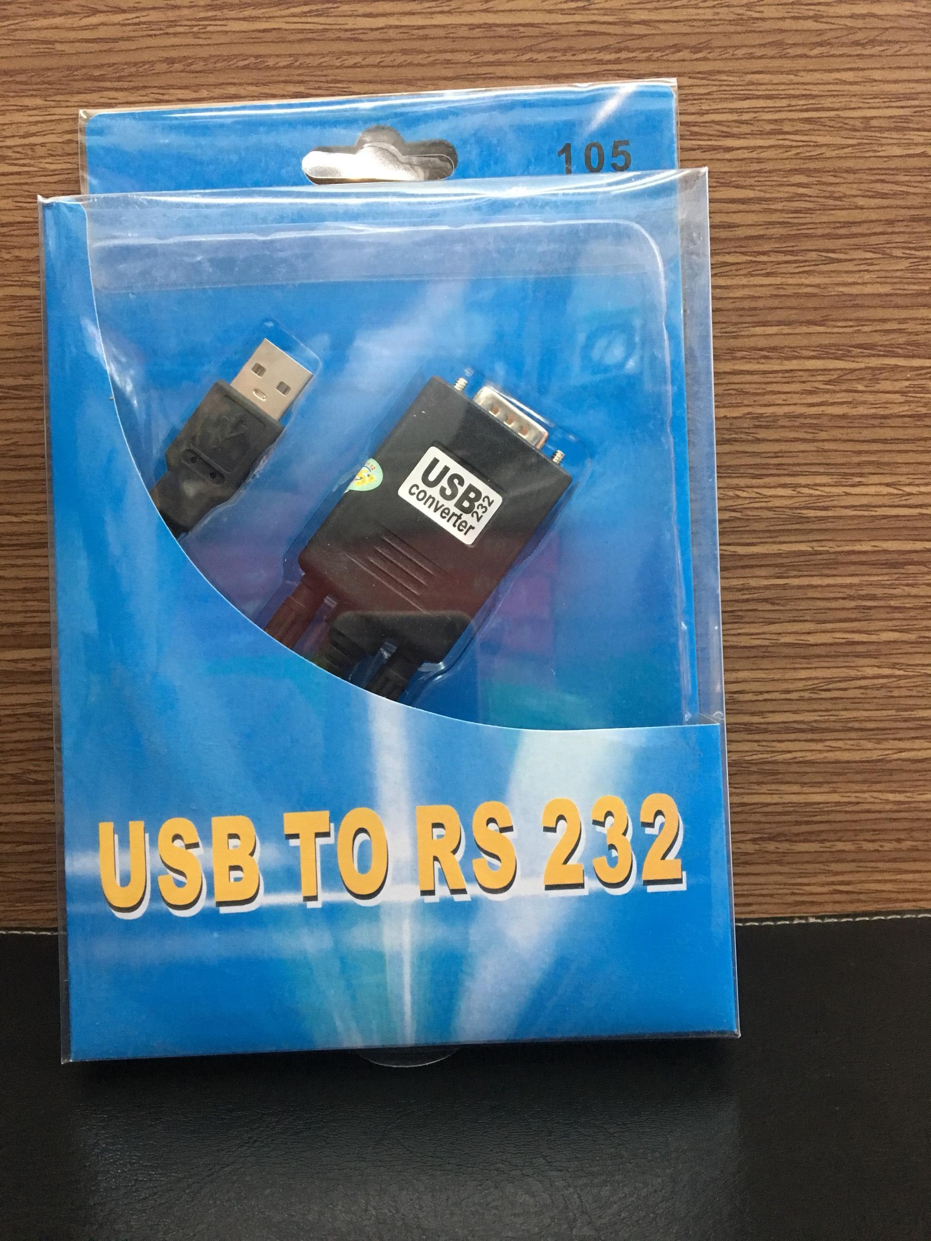 Cáp Chuyển USB To Com 105 - USB To RS232 Convverter Dài 1M