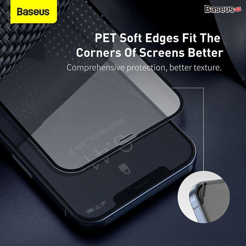Kính cường lực tràn viền Baseus cho iPhone 12 Mini / iPhone 12/ iPhone 12 Pro/ iPhone 12 Pro Max 0.23mm Chống Vỡ Viền, Bộ 2 Miếng_ Hàng Nhập Khẩu