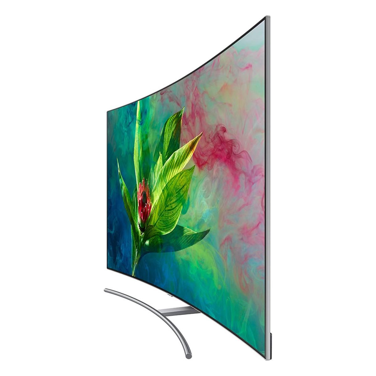 Smart Tivi Màn Hình Cong Samsung 65 inch QLED 4K QA65Q8CNAKXXV - Hàng Chính Hãng + Tặng Khung Treo Cố Định