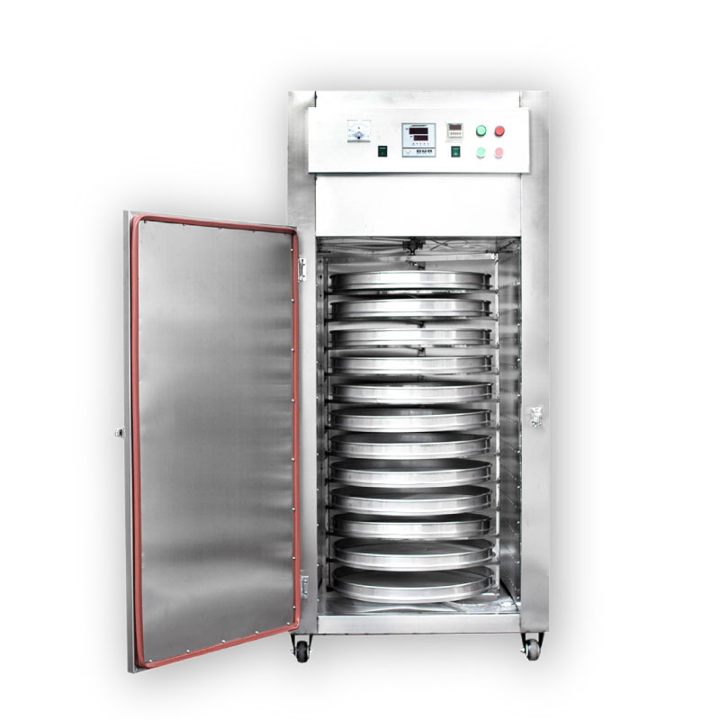 Máy sấy công nghiệp khay xoay tròn loại 12 khay GEC12. Sấy nhanh, tốc độ cao gấp 10 lần phơi nắng, dễ thao tác, sử dụng, an toàn với bảo vệ cách nhiệt. Hàng nhập khẩu chính hãng SGE Thailand