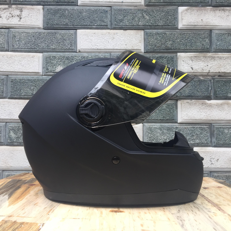 Mũ bảo hiểm Fullface Asia MT136 (Size L) - Đen nhám