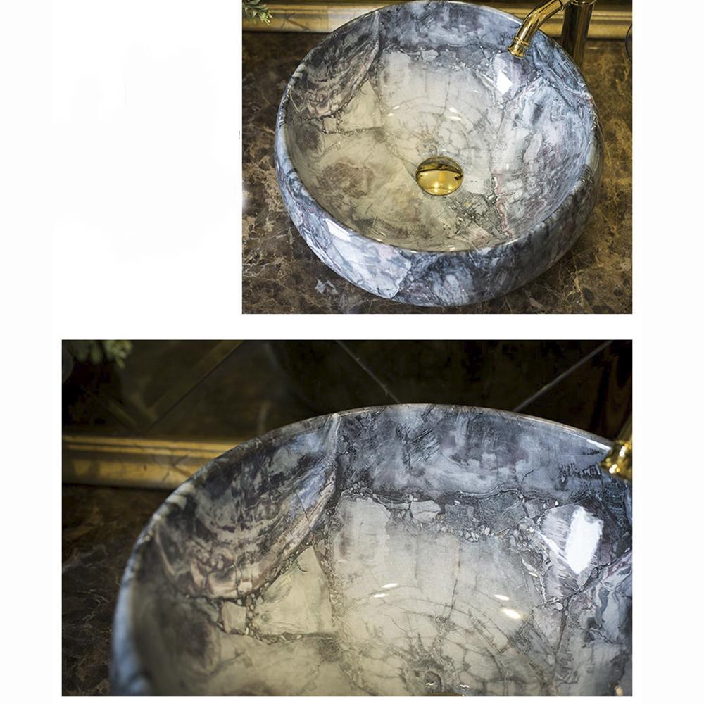 Chậu rửa mặt lavabo dương bàn gốm sứ nghệ thuật cao cấp LAV001 – Phong cách Châu Âu sang trọng