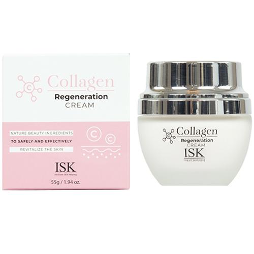 Kem dưỡng da săn chắc và làm trắng da ISK Collagen Hàn Quốc 55g tặng thêm móc khóa