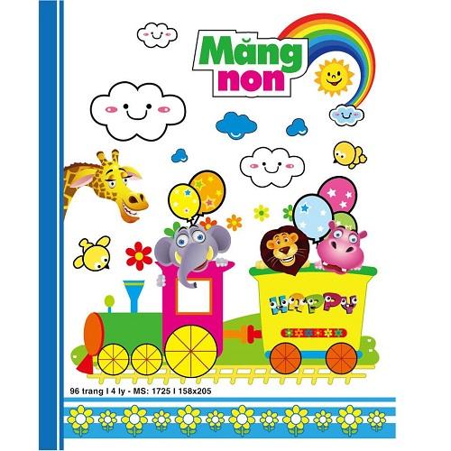 Lốc Tập 4 ly caro Hải Tiến - Măng Non (96 trang - Lốc 5 cuốn - Miền Nam)