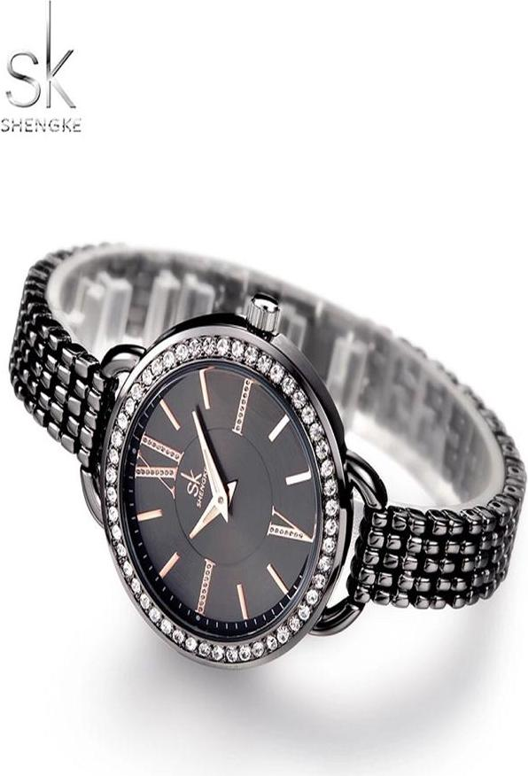 Đồng hồ nữ chính hãng Shengke K0089L-01 Đen